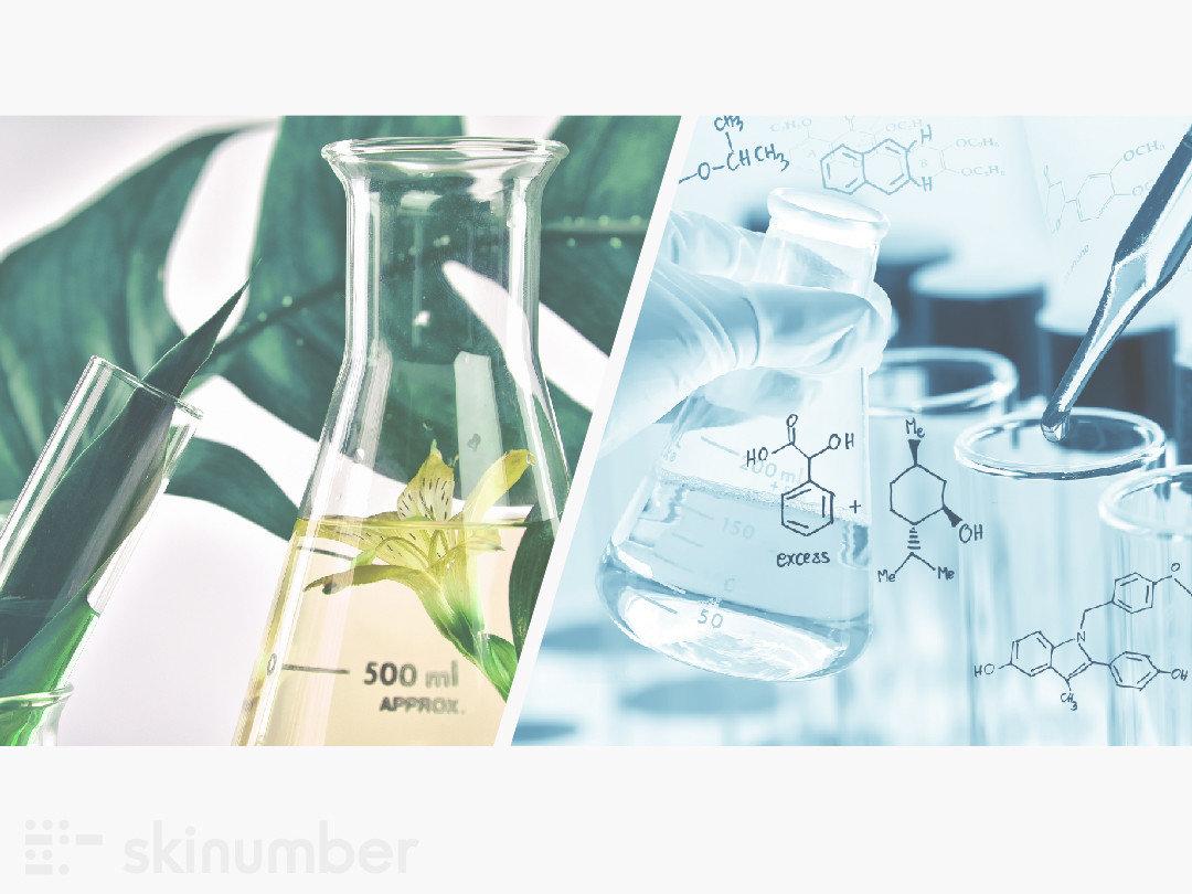 天然植萃成分與化學合成成分